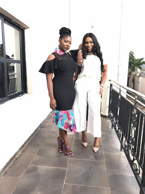 Mercy Johnson And Ebube Nwagbo Stun In Gorgeous Dress At Glo Event