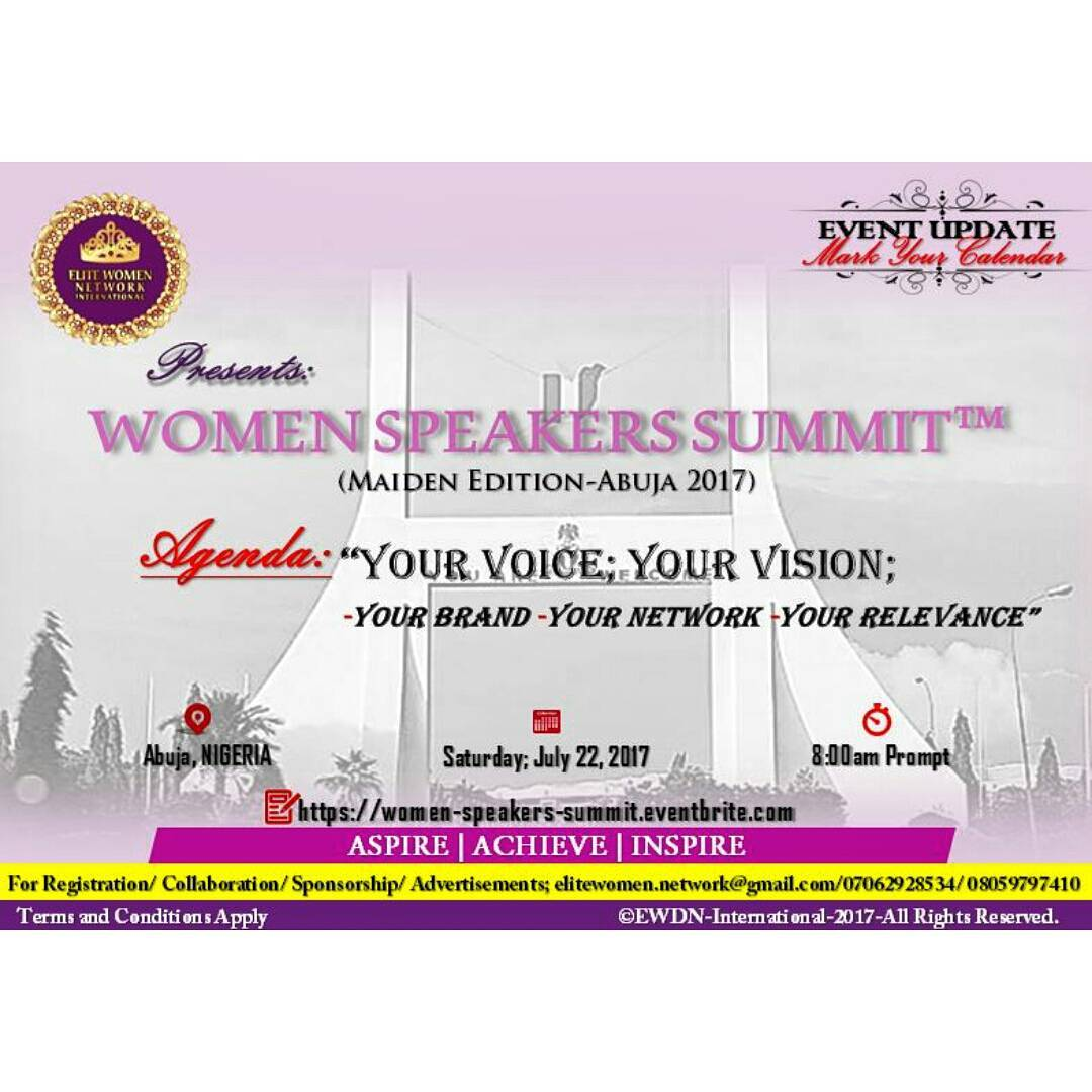 ELITE Women Development Network International presents International Women Speakers Consortium (IWSC™)