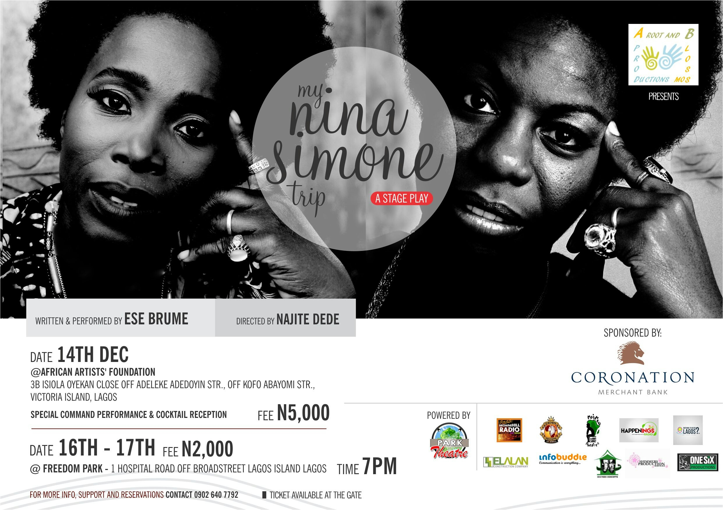 Roots and Blossom Productions Presents My Nina Simone Trip – A Stage Play