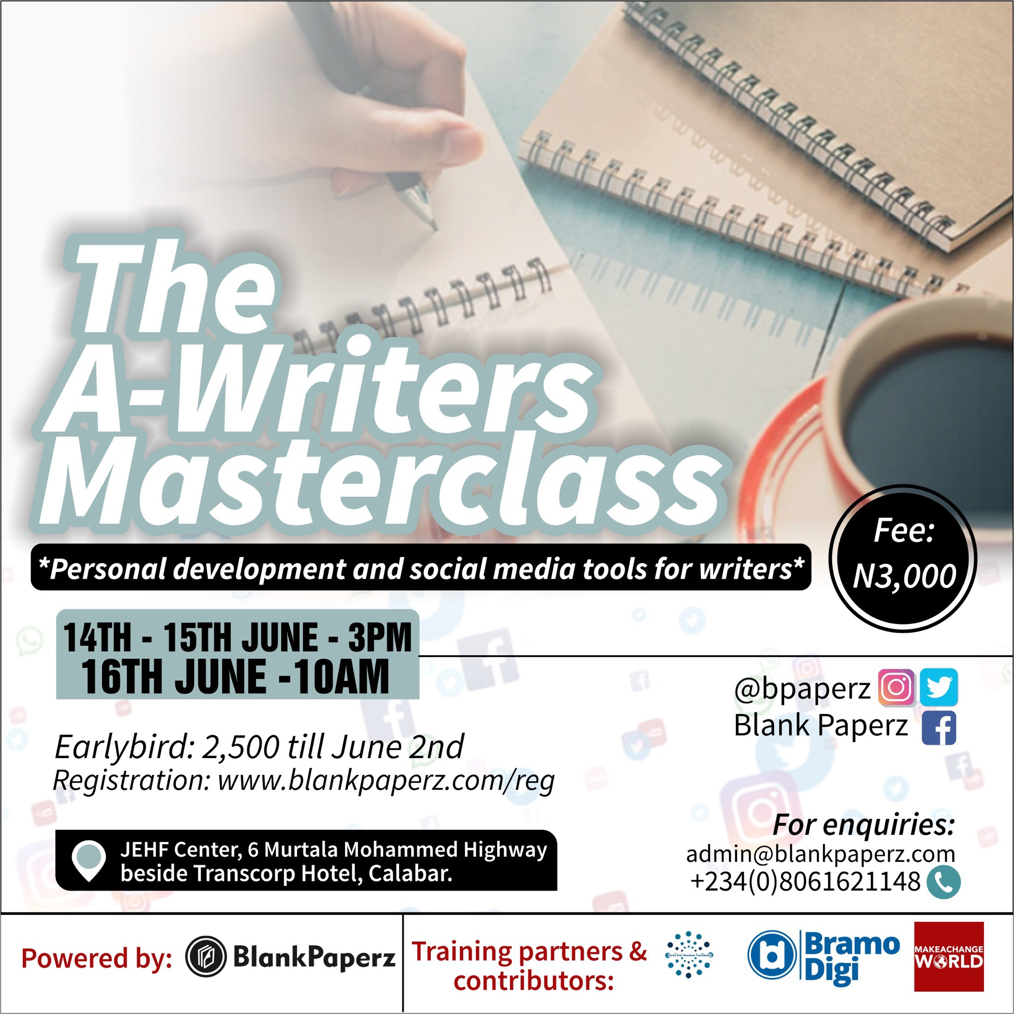 BlankPaperz Launches Powerful A-Writers Masterclass to Develop Young Writers in Calabar
