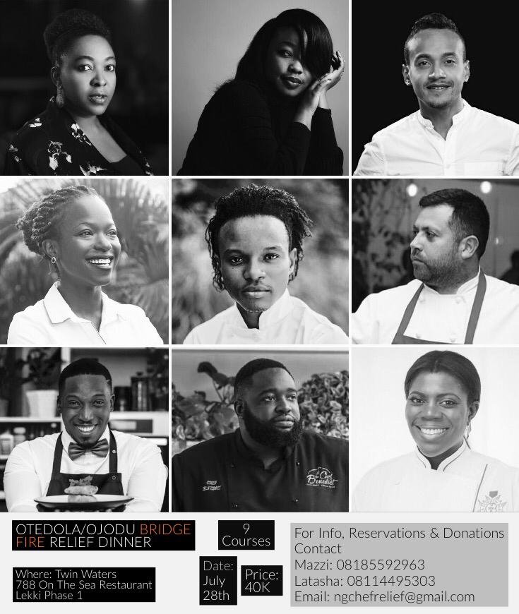 Chef Michael Elegbede & Friends: A special relief dinner held at 788 On The Sea for the victims of the Otedola Bridge fire