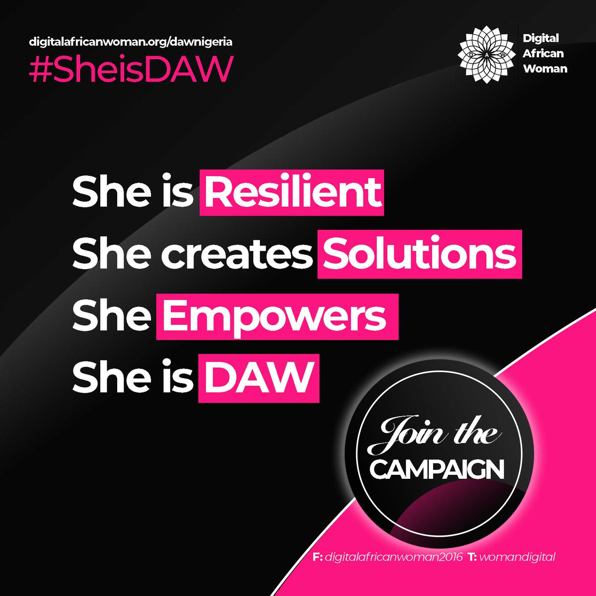 Nominate a woman for the #SheIsDAW award