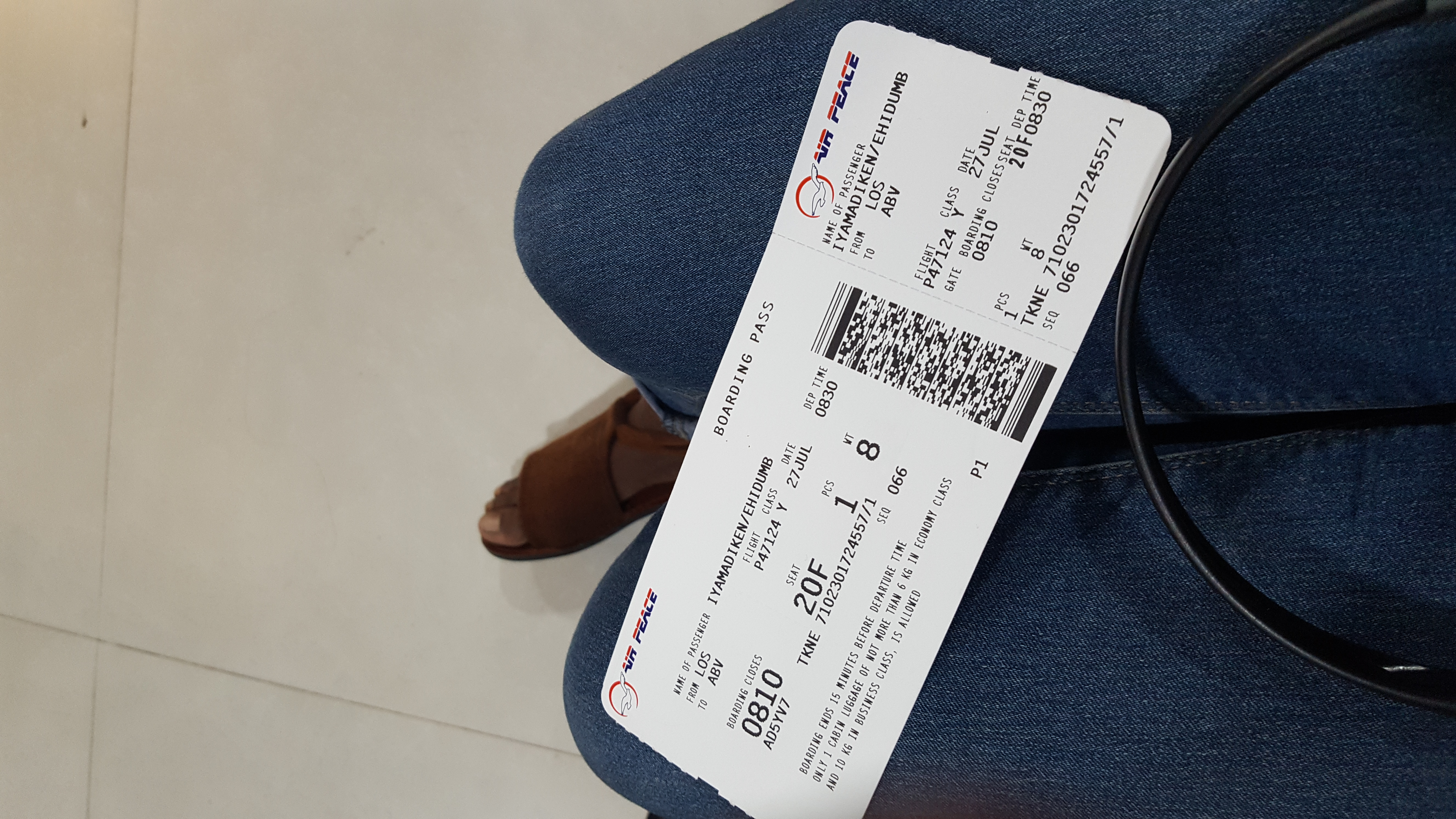 Air peace ticket