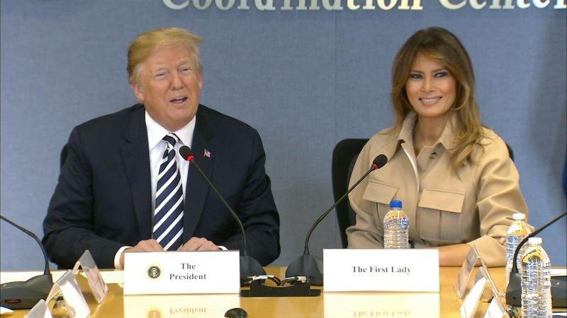 President Trump praises Melania Trump