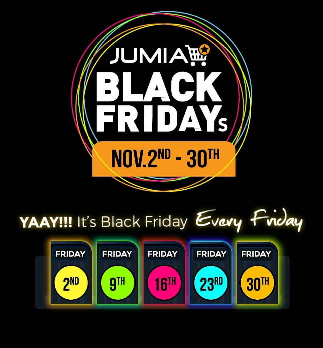 Jumia Codes To Use When Shopping This Black Friday Period From November 2nd To November 30th