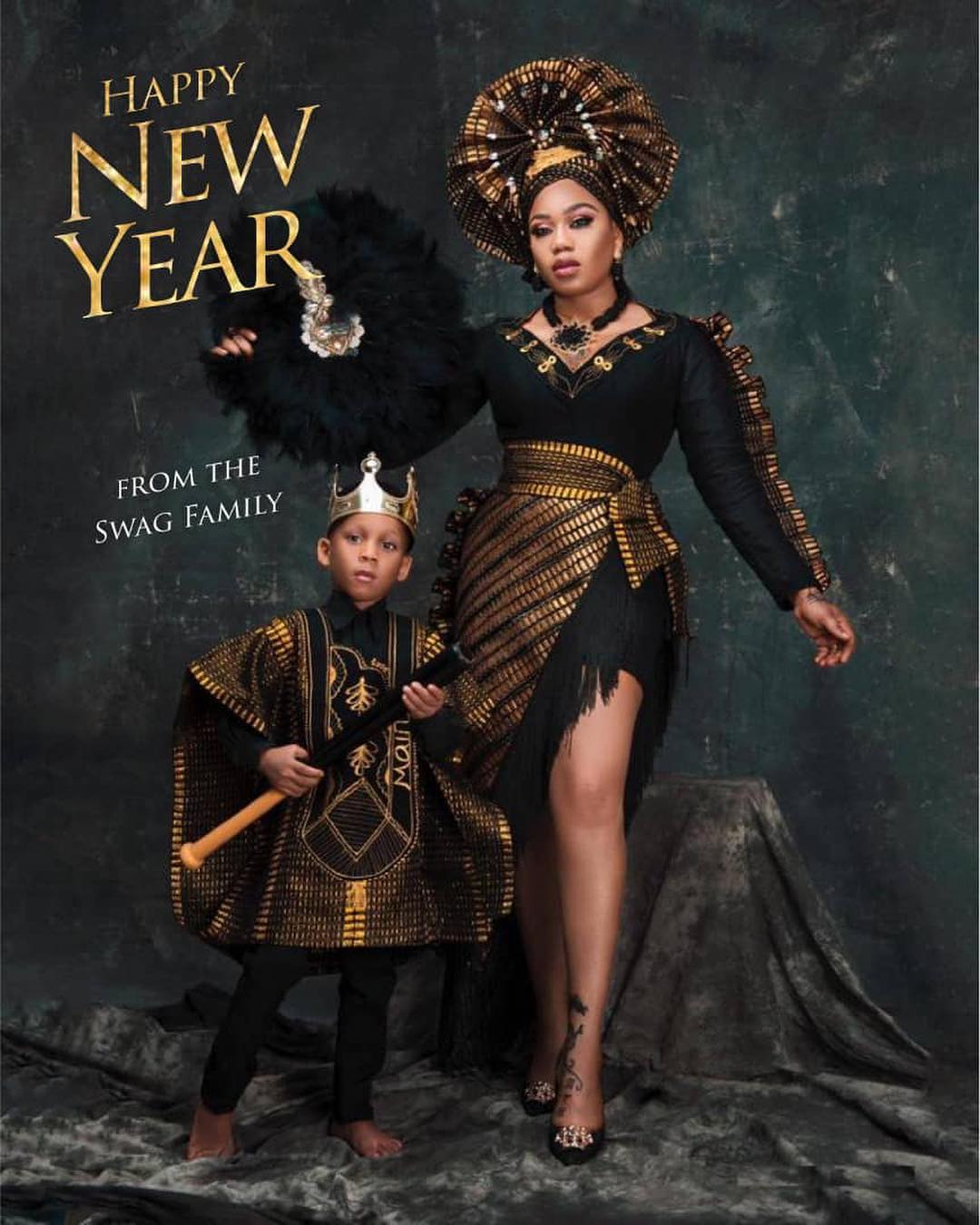 This Photoshoot By Toyin Lawani & Her Son Tenola Has Got Everyone Talking