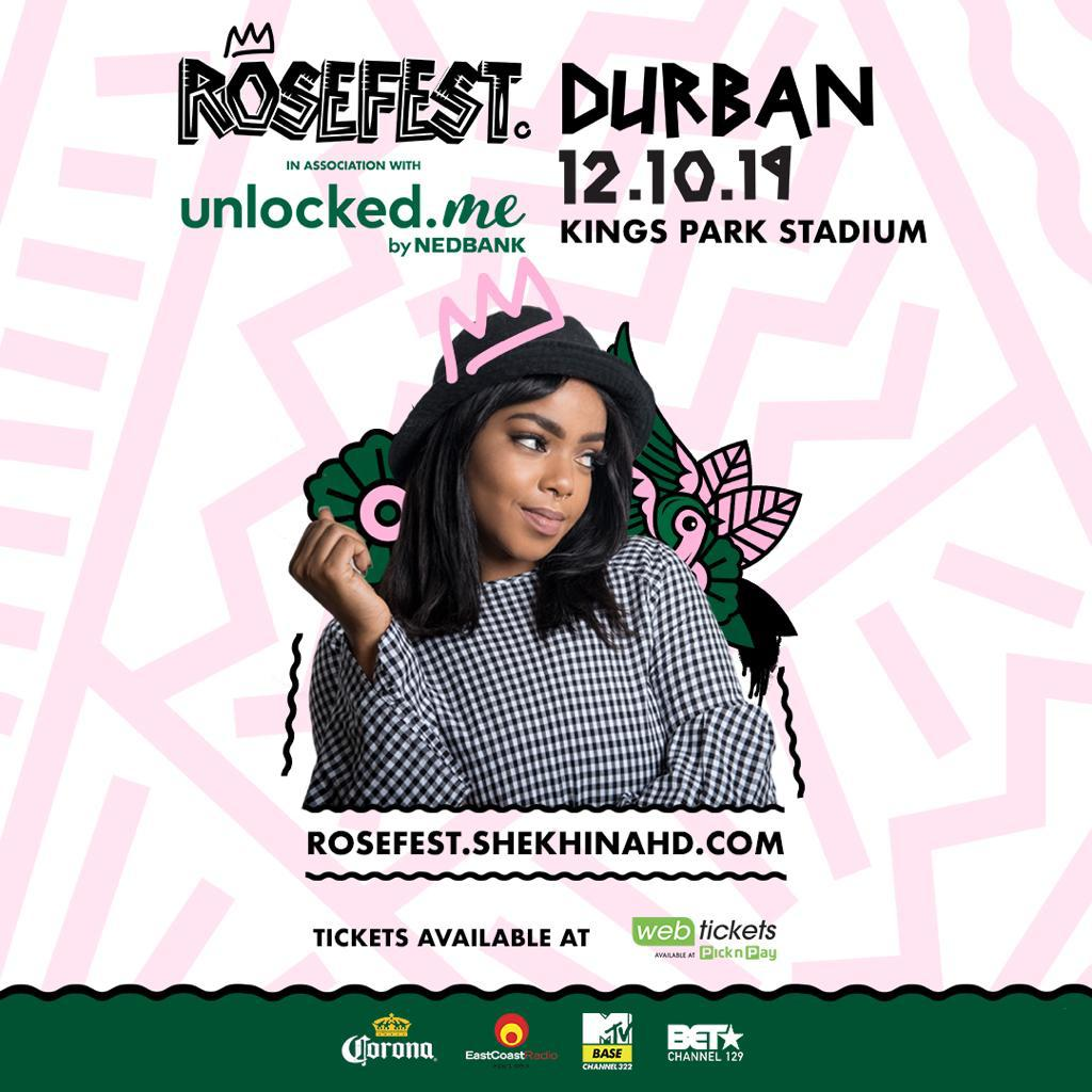 shekhinah is taking rosefest to durban