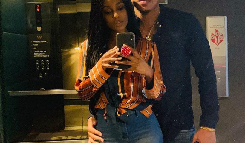 Rotimi and his girlfriend vanessa mdee