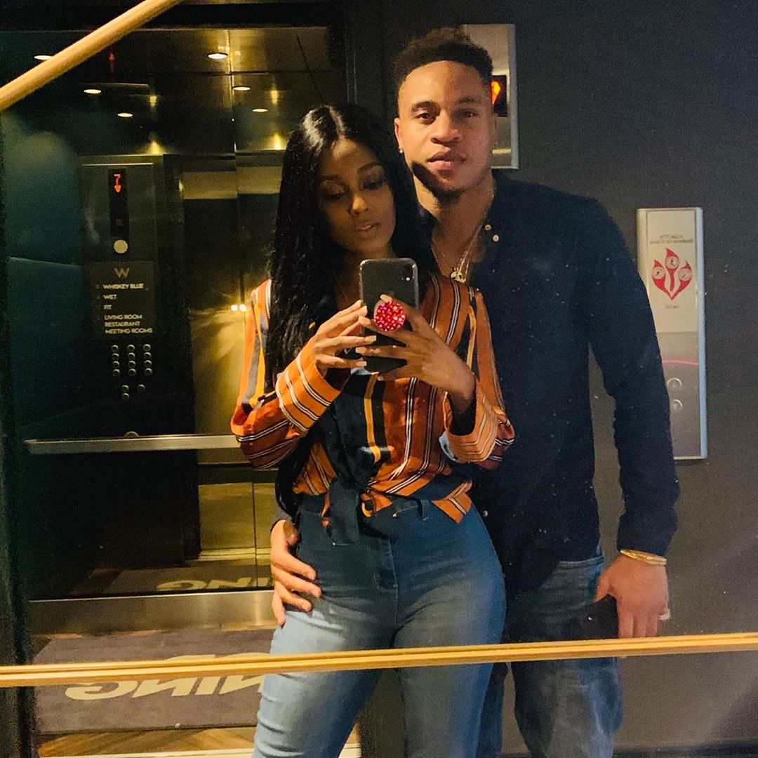 Rotimi and his girlfriend vanessa mdee