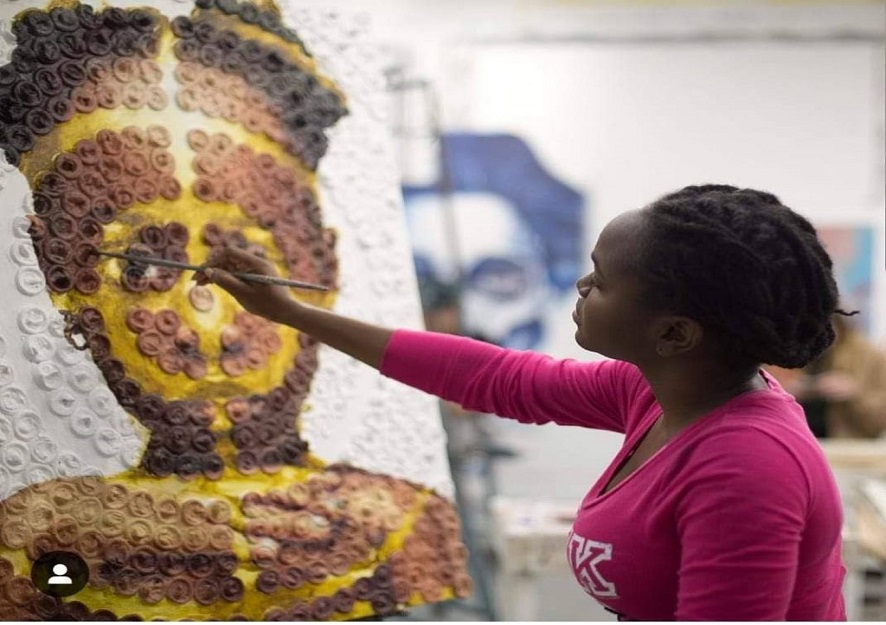 22 Year Old Nneka Jones From Trinidad and Tobago Is Raising Awareness By Using Condoms To Paint Sexual Assault Victims