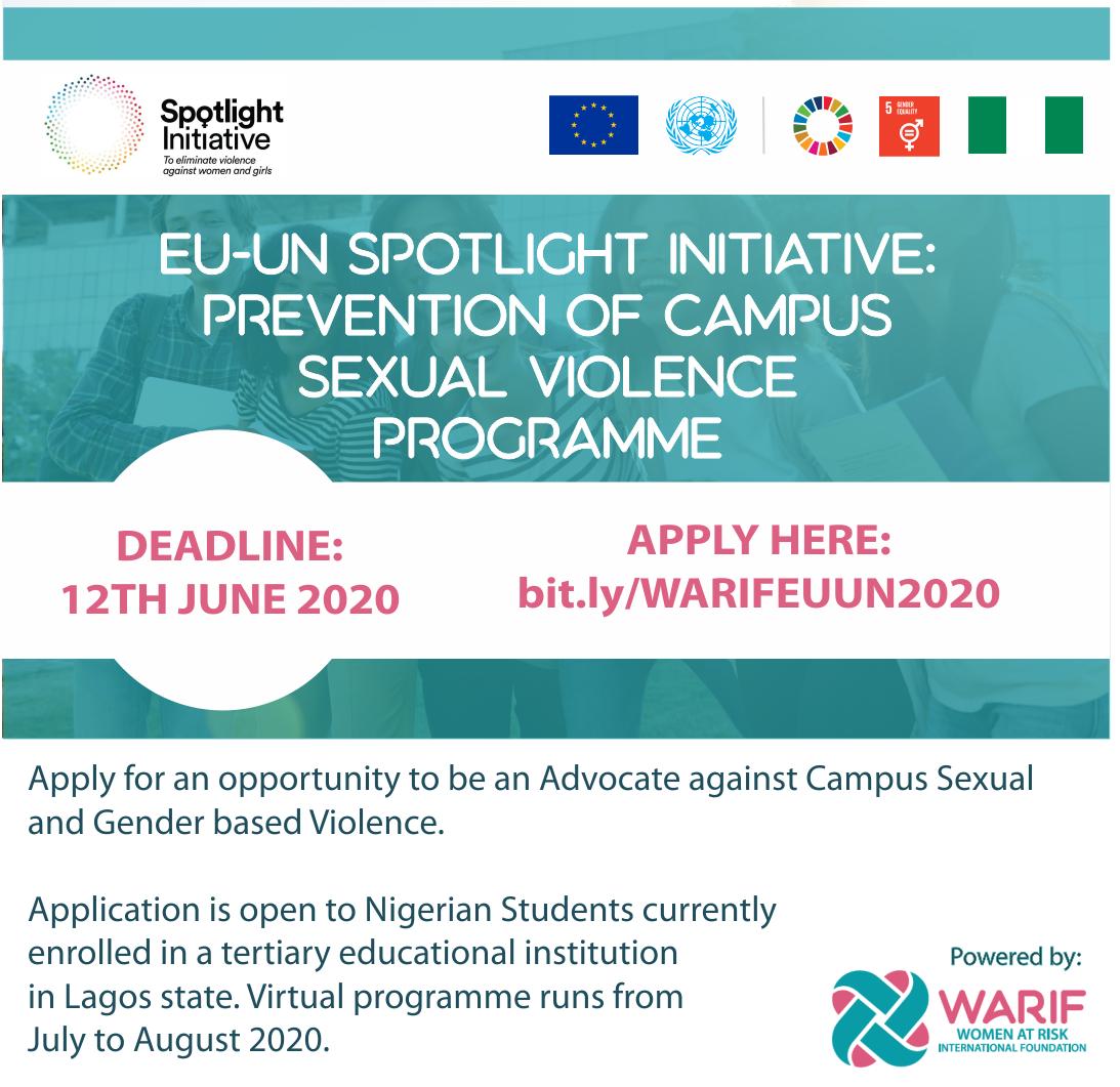 EU-UN Spotlight Initiative Prevention of Campus Sexual Violence Programme