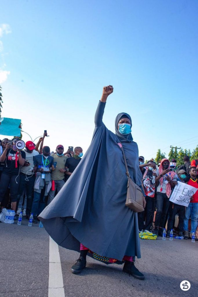Aisha Yesufu At The #EndSARS Protest In Abuja
